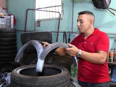 Artesão piauiense transforma pneus em obra de arte; Faça você também!