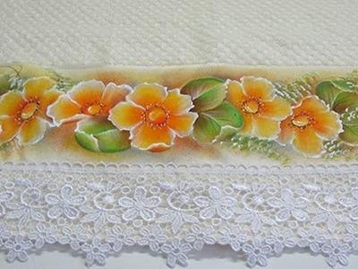 Aula n°9- Pintura em tecido iniciantes- Flores do Campo