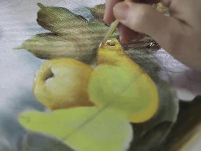 Como pintar transparências, vidros e frutas em tecido com Ediana Brollezzi
