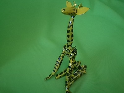 Como Fazer 02 Girafa de Prestobarba Gillette e Outros Materiais.