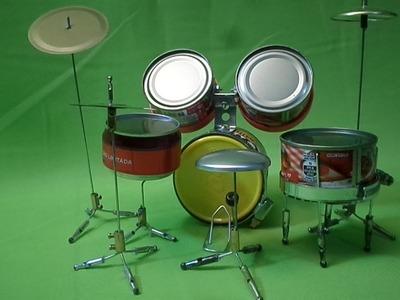 Como fazer Bateria Musical 02 De outras Latinhas