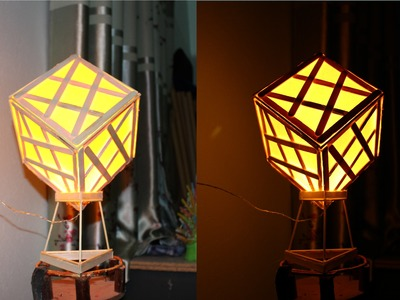 Faça uma lâmpada usando palitos de picolé