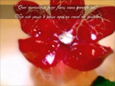 Como fazer flores com garrafa pet  (