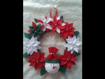 Como fazer uma guirlanda de Natal em Feltro Passo a Passo!