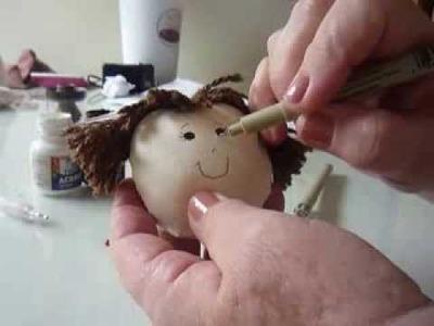 Como pintar carinha de bonecas