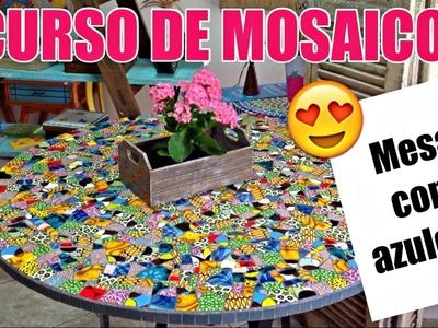 Curso de Mosaico | Aula 2 | Como fazer mesa de mosaico com azulejos