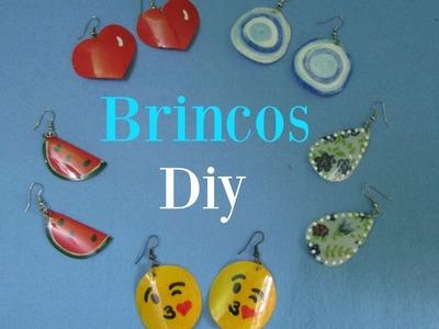 5 Idéias de Brincos feito com garrafa pet | Diy