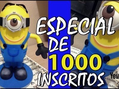 Como Fazer Boneco Do Minion Em E.V.A 3D+1000 INSCRITOS - PARTE 2