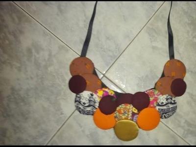 Tutorial de colar afro de botões  by angolarte