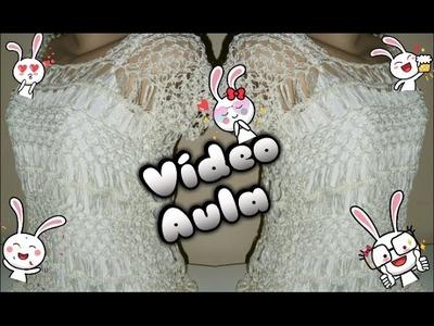 Blusa Pérola (vídeo aula) croche de grampo
