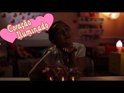 Como criar uma luminária de corações com a Nina ❤ Mundo da Menina