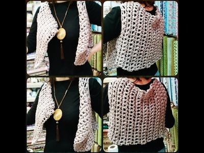 Como fazer um colete de Crochê com os dedos