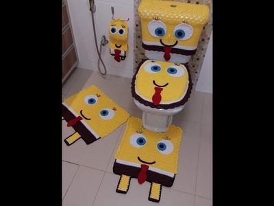 Jogo de banheiro 2º parte em crochê com Viviane Santos