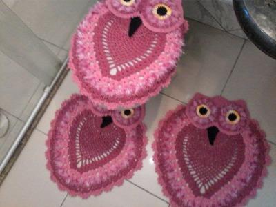 Como fazer tapete de coruja 2 (EM CROCHE)