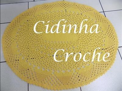 CrochE- Tapete Oval Modelo 1- Passo A Passo- Parte 1.3