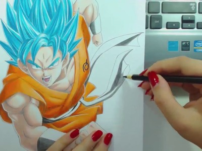 Speed Drawing - Goku SSGSS (Dragon Ball)