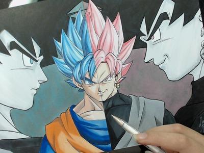 Speed Drawing - Goku SSJ Blue   Black SSJ Rose (Dragon Ball Super)