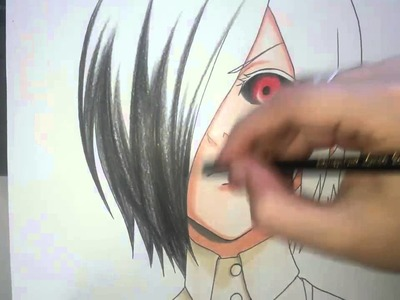 Speed Drawing - Kirishima Touka (Tokyo Ghoul)