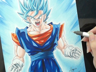 Speed Drawing - Vegetto Blue (Dragon Ball Super)