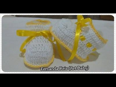 Botinha de Croche para Bebe parte 1