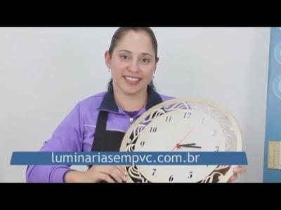 Como fazer um Relógio de PVC