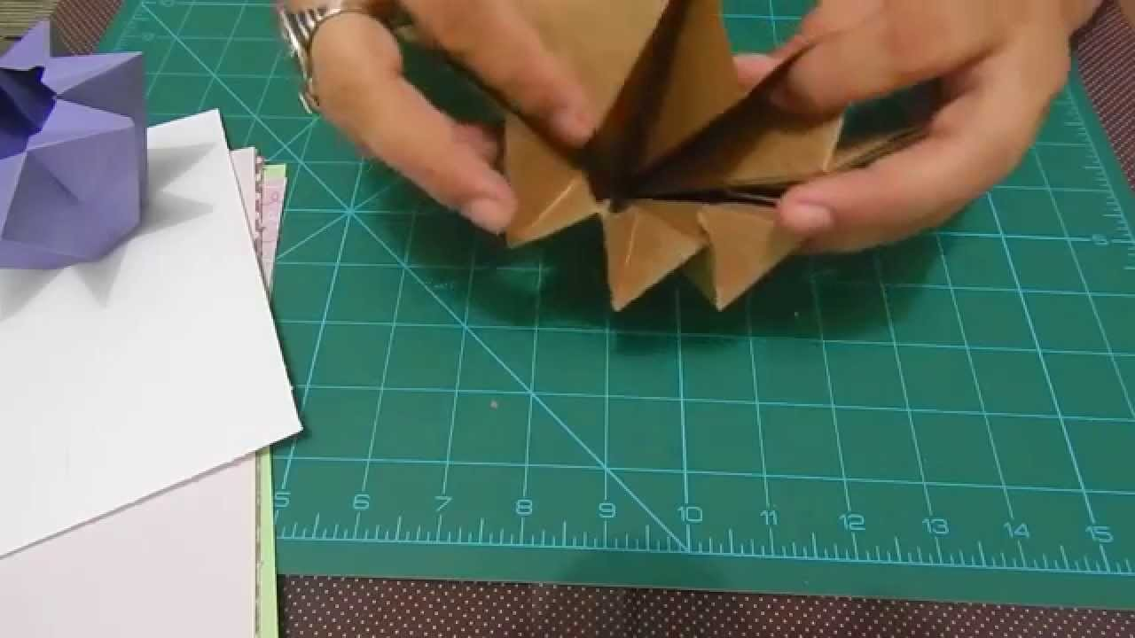 Como fazer um vaso de origami lindo e fácil-Vaso Estrela