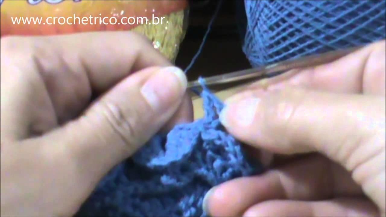 Crochê - Sapatinho para Bebê em Ponto Escama (0 à 3 meses) - Parte 02.05