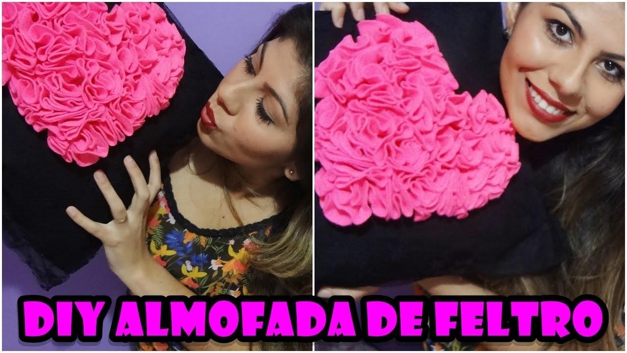 {DIY} ✂ Almofada de Feltro SEM COSTURA.