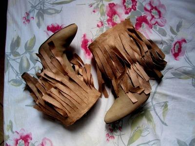DIY: Como fazer bota de franjas customizada