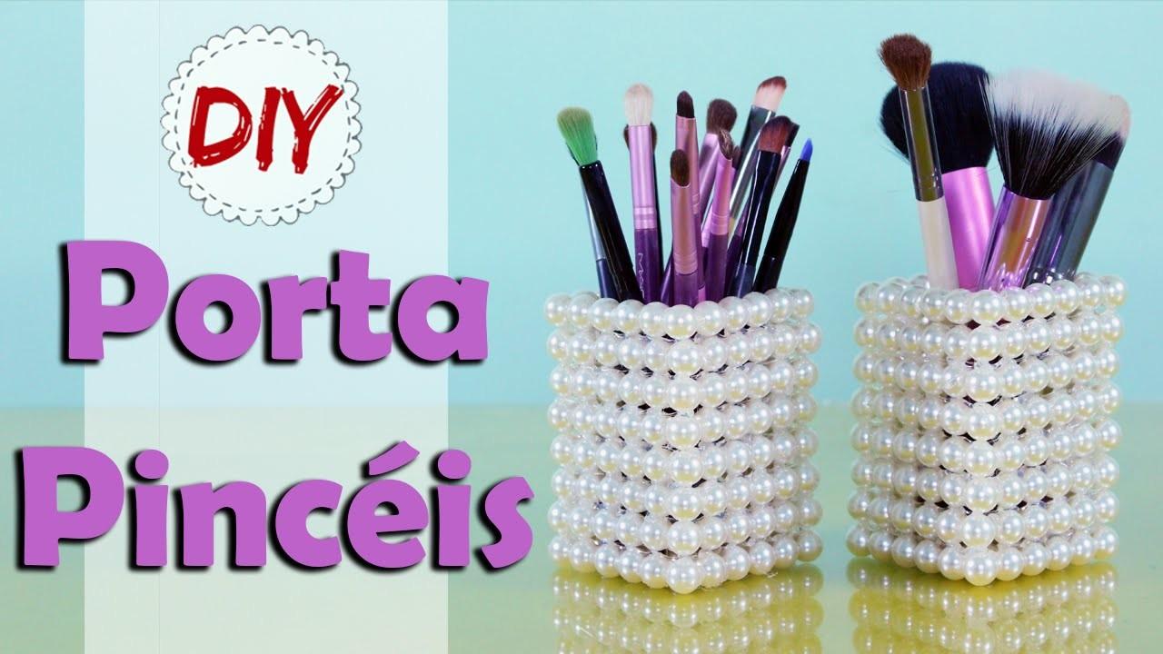 DIY: Porta Pincéis Elegante - Fácil, barato e Lindo por Coisas de Jessika