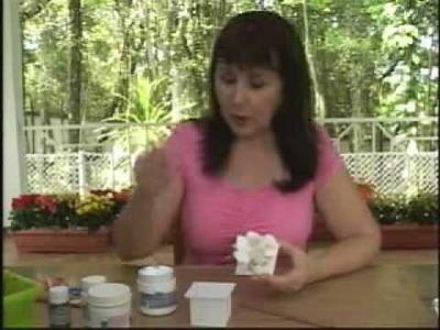 Engomagem simples caixa flor branca - Daiara