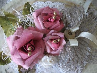 Flores Vintage flowers crafts, vintage paper roses