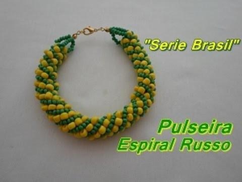 "NM Bijoux -  ""Serie Brasil"" - Pulseira espiral russo"