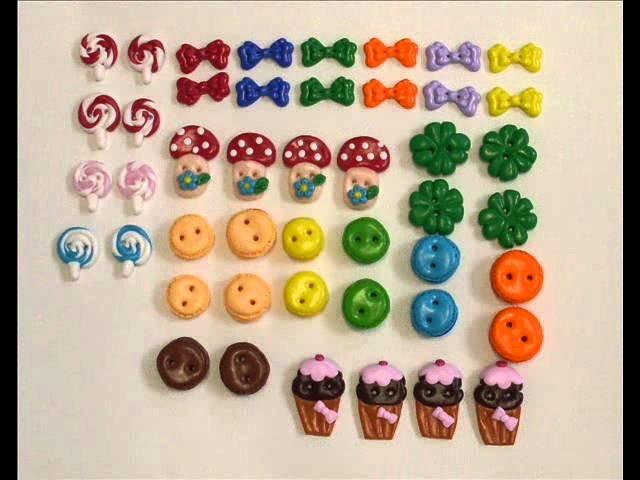 Polymer clay buttons  Botões em fimo.wmv