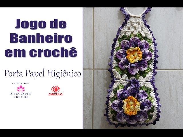 Porta Papel Higienico Crochê ( jogo de banheiro Paty) - Professora Simone
