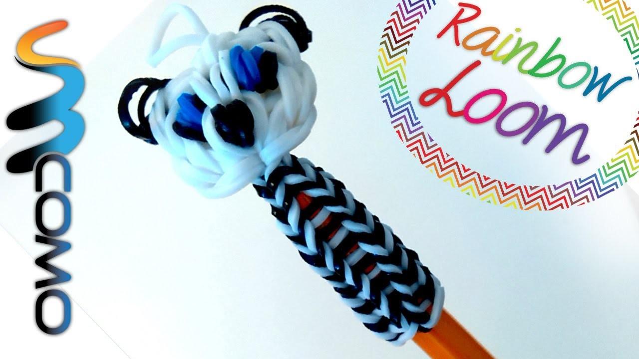 Rainbow Loom - Topo de Lápis Panda
