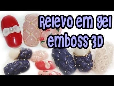 Relevo em Gel Emboss 3D Nail Art