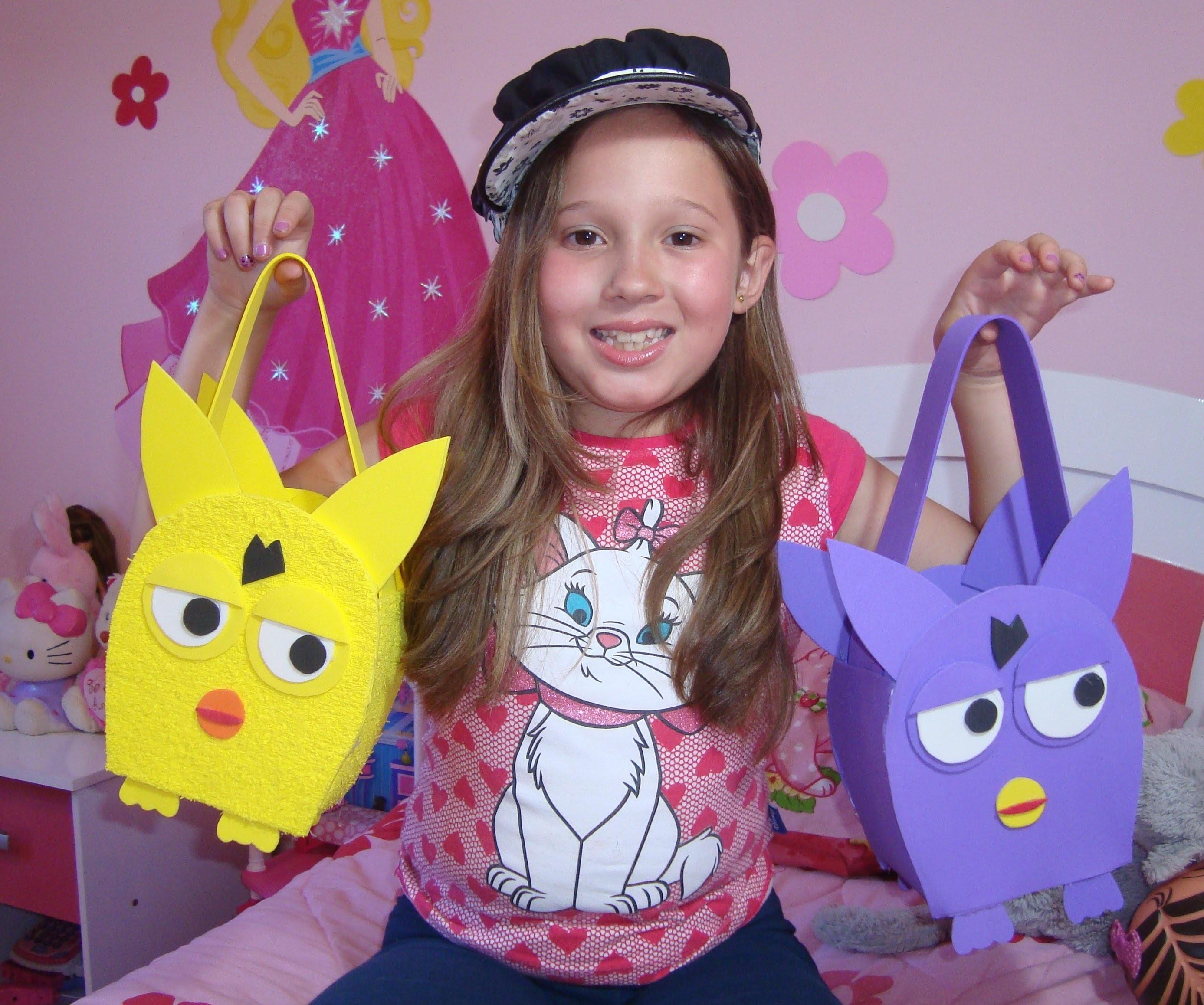 Tutorial: Bolsa de Furby feita com EVA