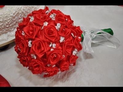 Como Fazer Rosas de Fita