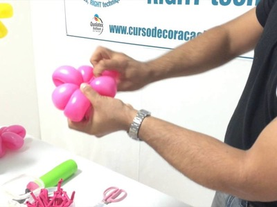 Curso de decoração com Balões 2 - Dicas de como fazer uma flor com balões