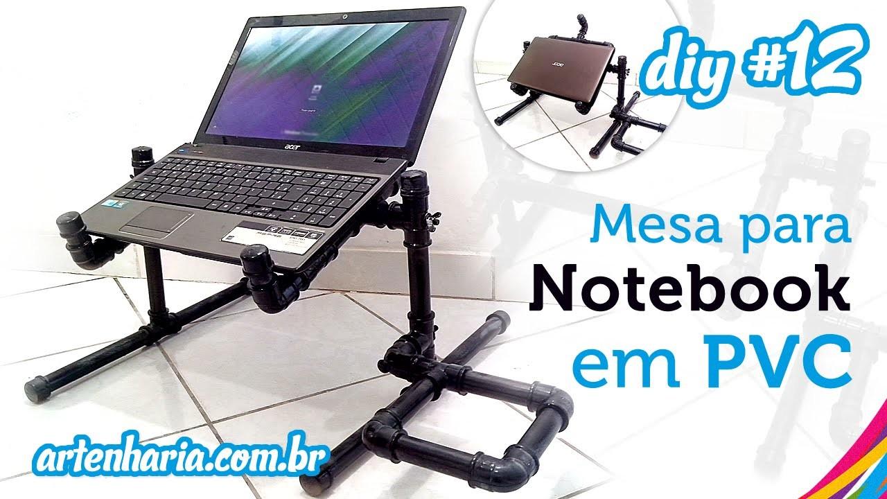Mesa para Notebook em PVC articulada (passo a passo) - Tabla Notebook PVC - DIY #12