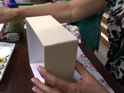 05.09.2013 Mulher.com  Ione Berne - Caixa de Cartonagem com tecido (Bloco 1.2)