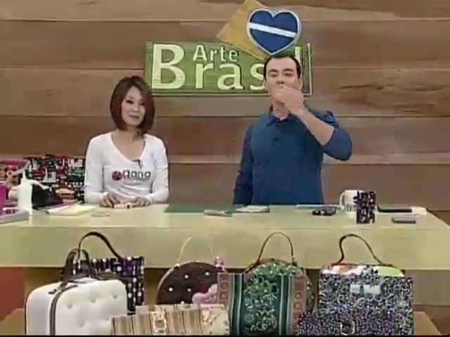 ARTE BRASIL - CLAUDIA WADA - CARTEIRA MÁGICA EM CARTONAGEM (13.07.2011)