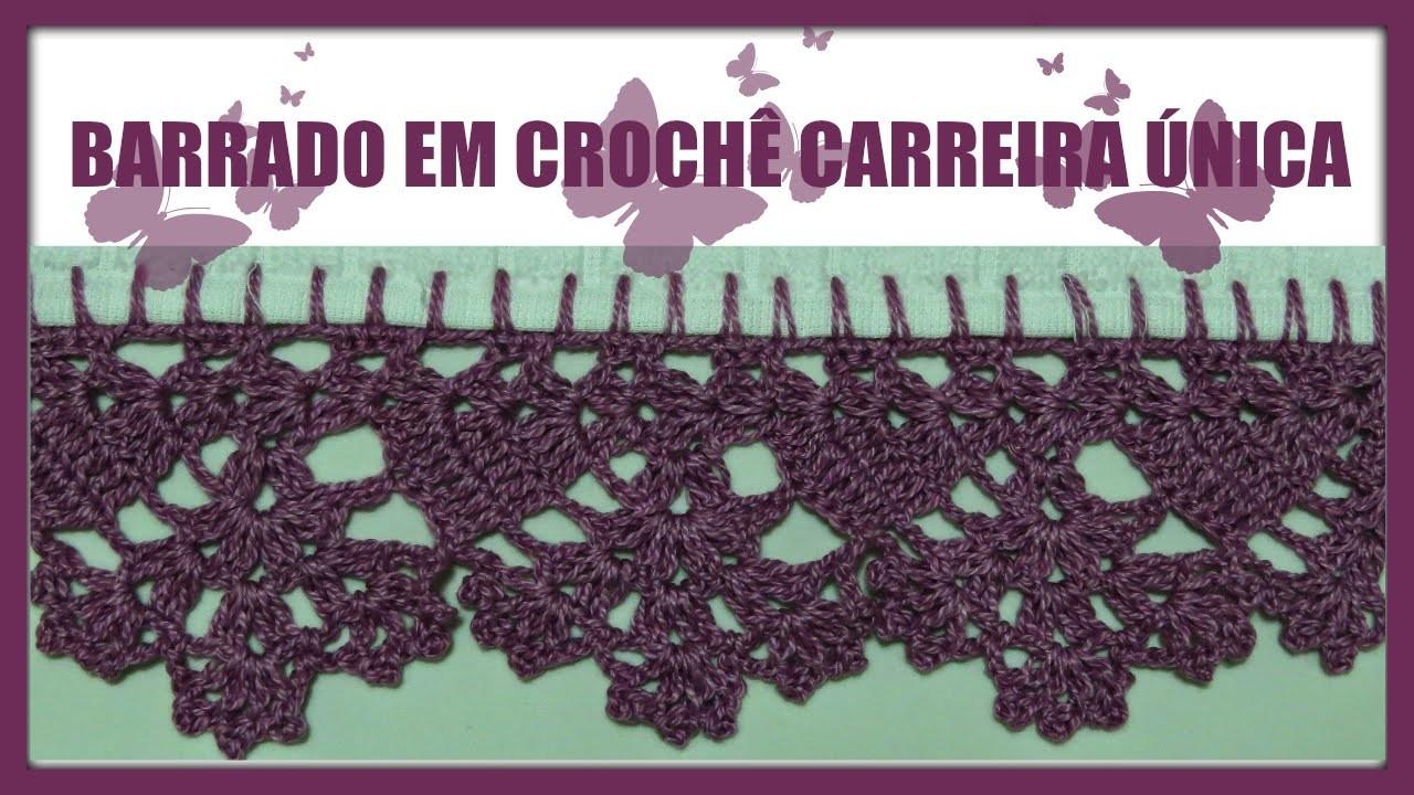 BARRADO EM CROCHÊ CARREIRA ÚNICA