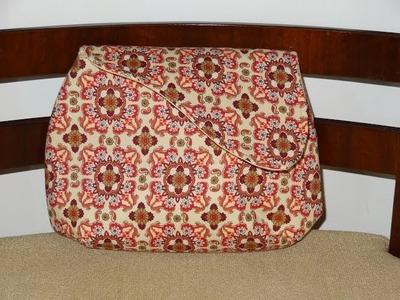 Bolsa carteira em tecidos Ava - Maria Adna Ateliê - Cursos e aulas de bolsas em tecidos - Bolsas