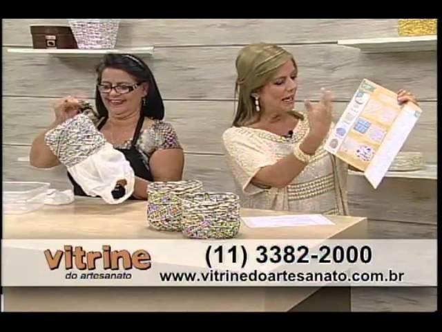 Cachepô enroladinho com Carmem Freire -  Vitrine do Artesanato na TV