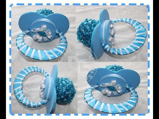 Como fazer chupeta com balas para decoração de chá de bebe