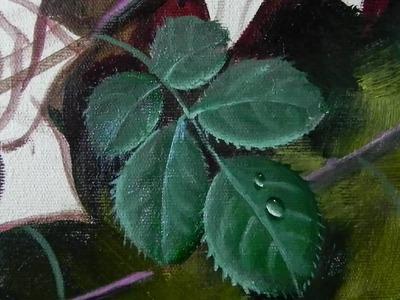 Como pintar folhas de rosas