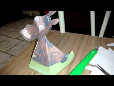 Desenho de papel que se mexe paper craft
