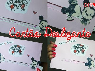 DIY: Cartão deslizante ♥ Presentes para namorados